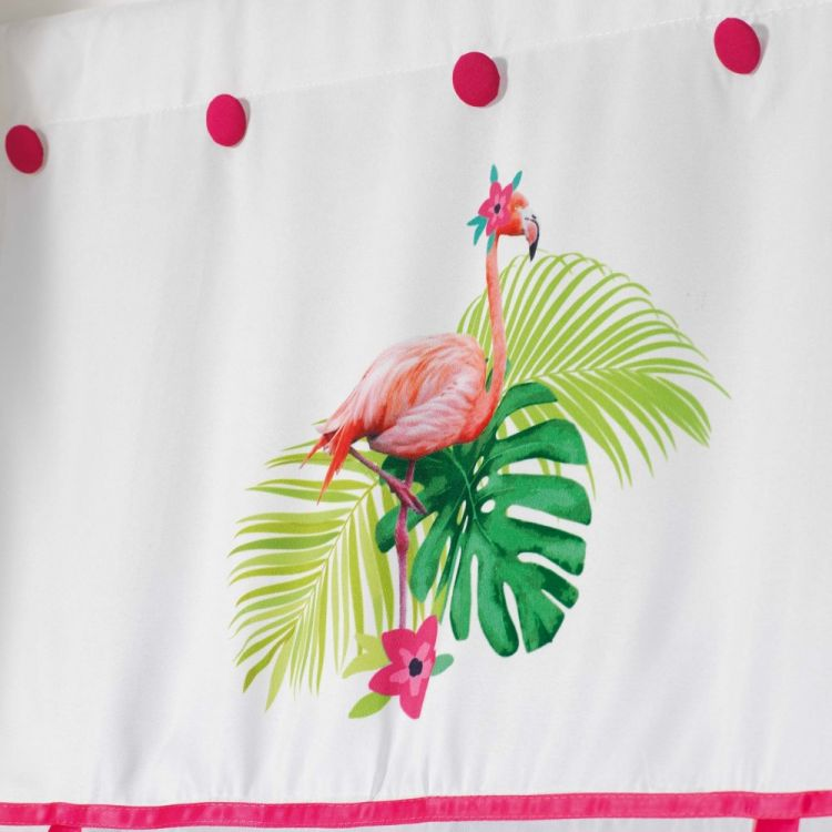 Flamingo Rosa Straight Voile Tie Blind Slot Top